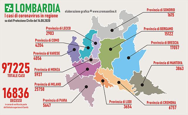 Cartina Lombardia Pavia.In Lombardia Sono 97 I Nuovi Casi Di Coronavirus